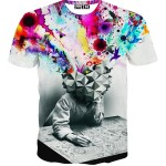 Super Quality process colors printed t shirts