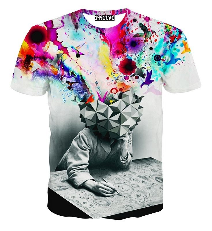 Multi color printing on t shirts cloth garment at best for Colour t shirt printing