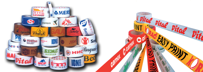 Plastic pvc packing tape printing supply in dubai